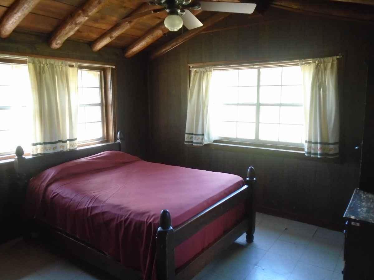 Bedroom 1 in Cabin 14 has one double bed.