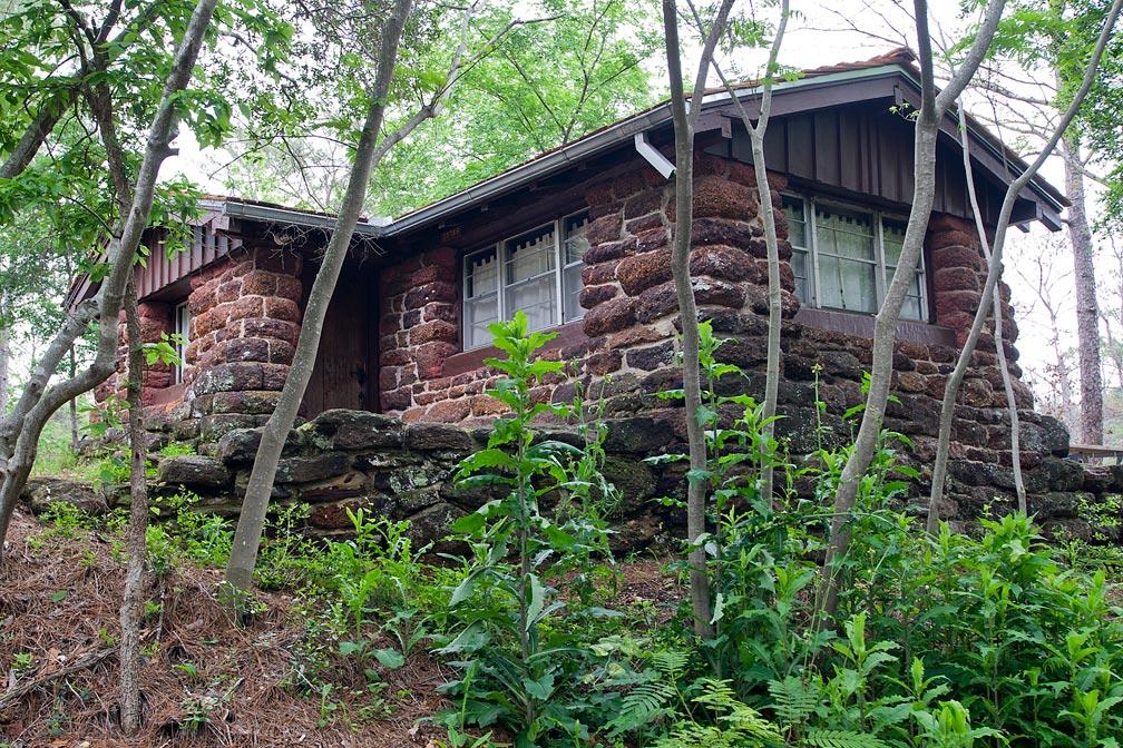 Bastrop State Park Cabin #2 exterior view.
