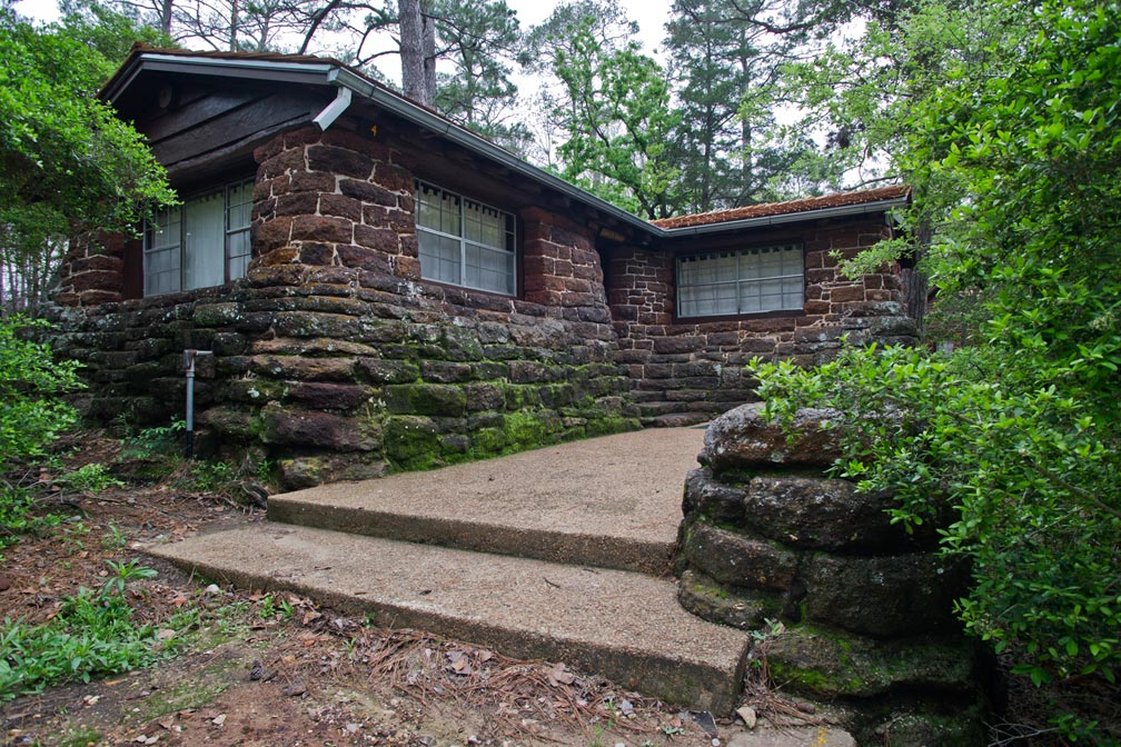Bastrop State Park Cabin #4 exterior view.
