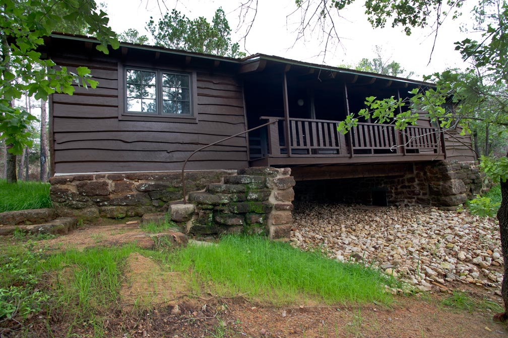 Bastrop State Park Cabin #6 exterior view.