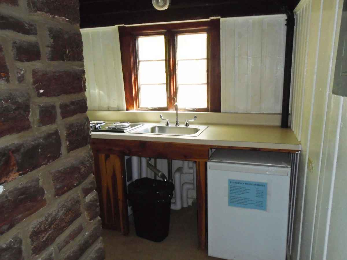 The Kitchen in Cabin 6.