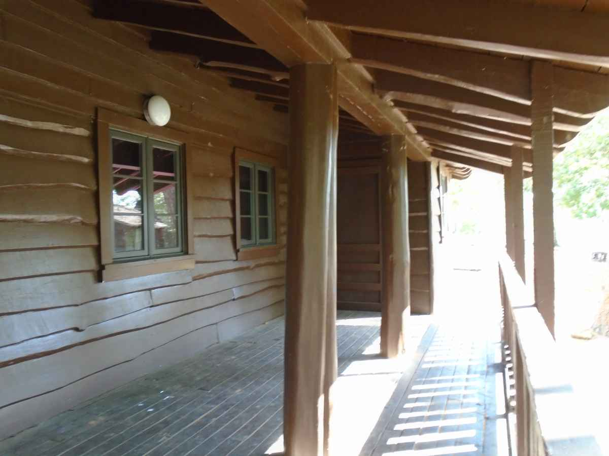A view of the Cabin 6 back porch.
