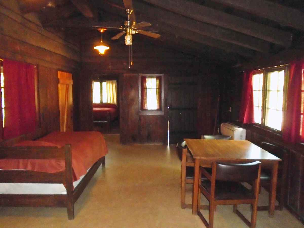 Another view of the living area in Cabin 6.