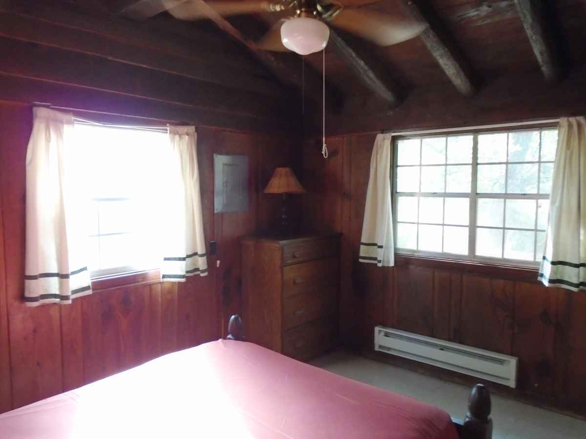 Bedroom 2 of Cabin 7 has one single bed.