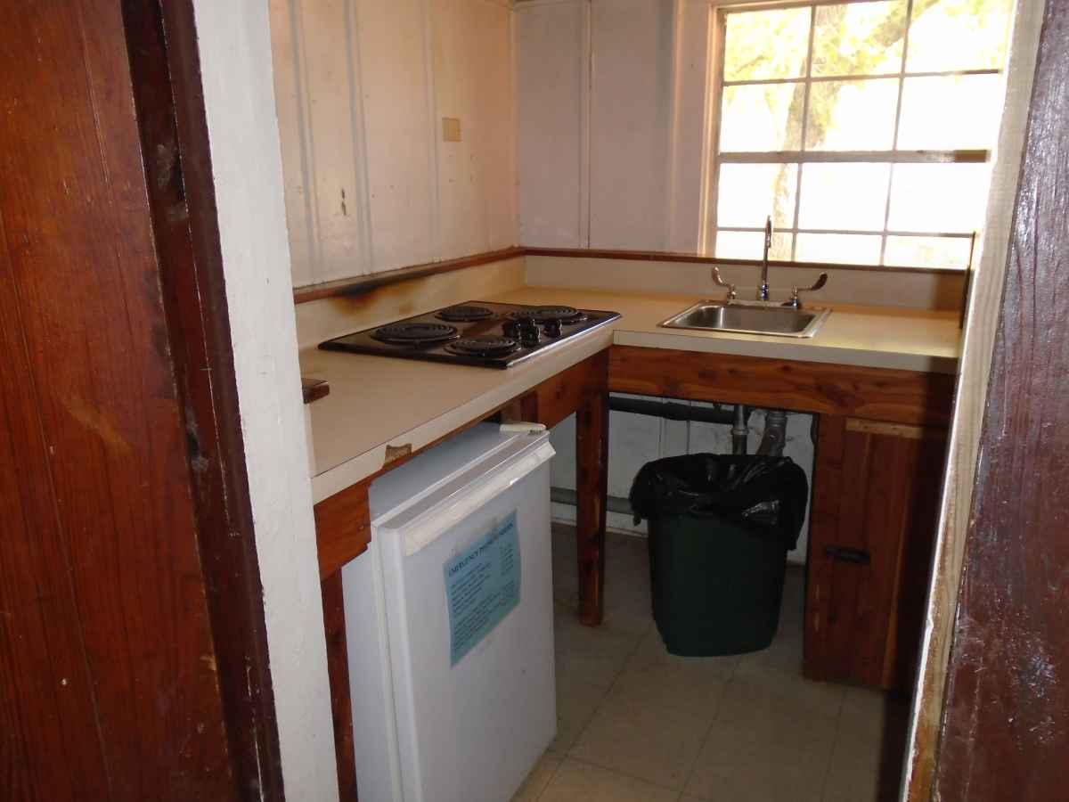 The kitchen in Cabin 7.