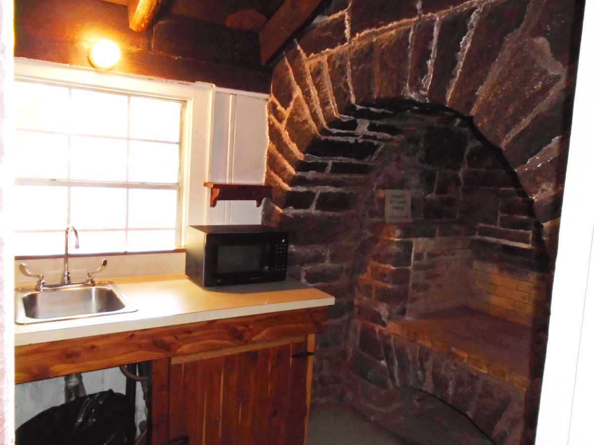 Another view of the kitchen in Cabin 7.