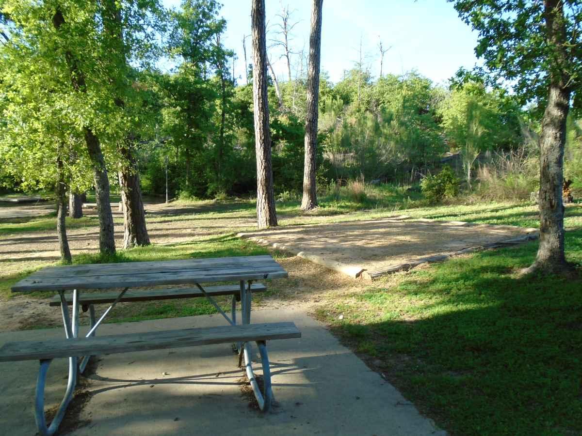 Campsite 55 in the Copperas Creek Camp area.
