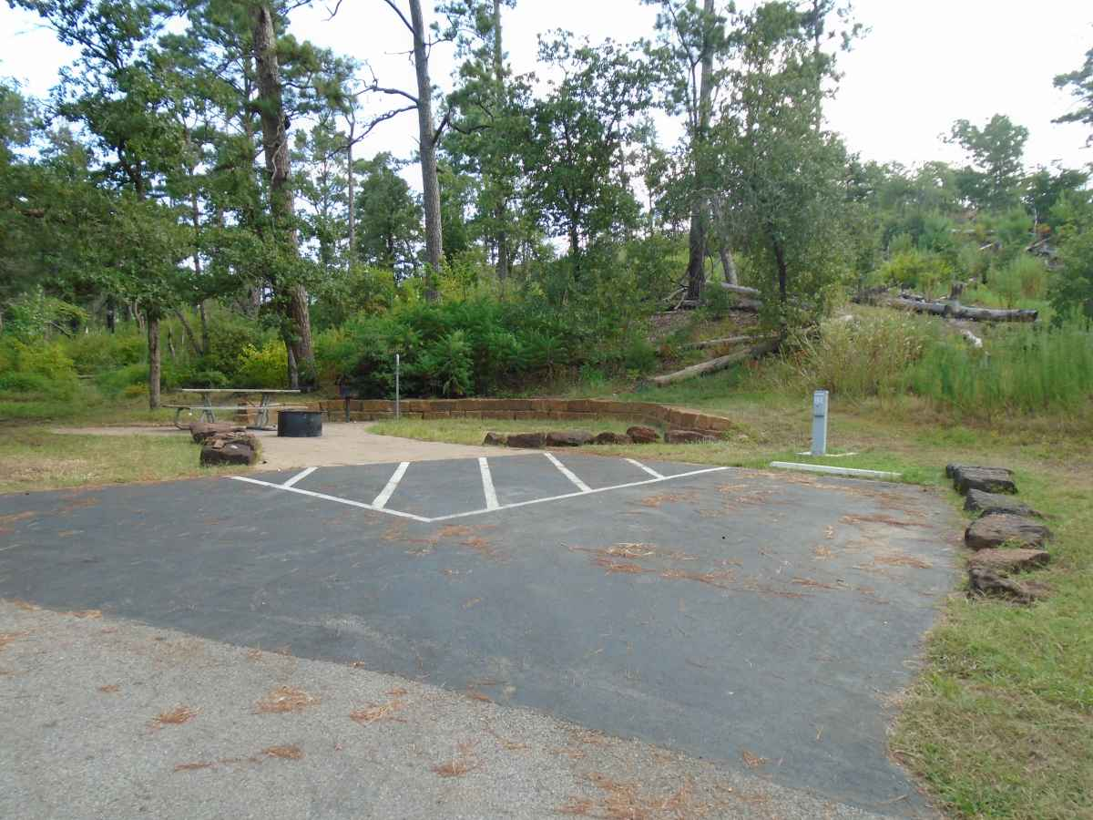 Campsite 61 is wheelchair friendly and near the bathrooms.