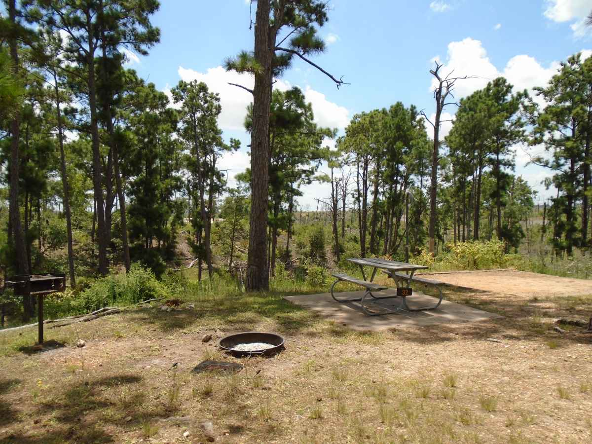 Campsite 32 in the Deer Run camping area.