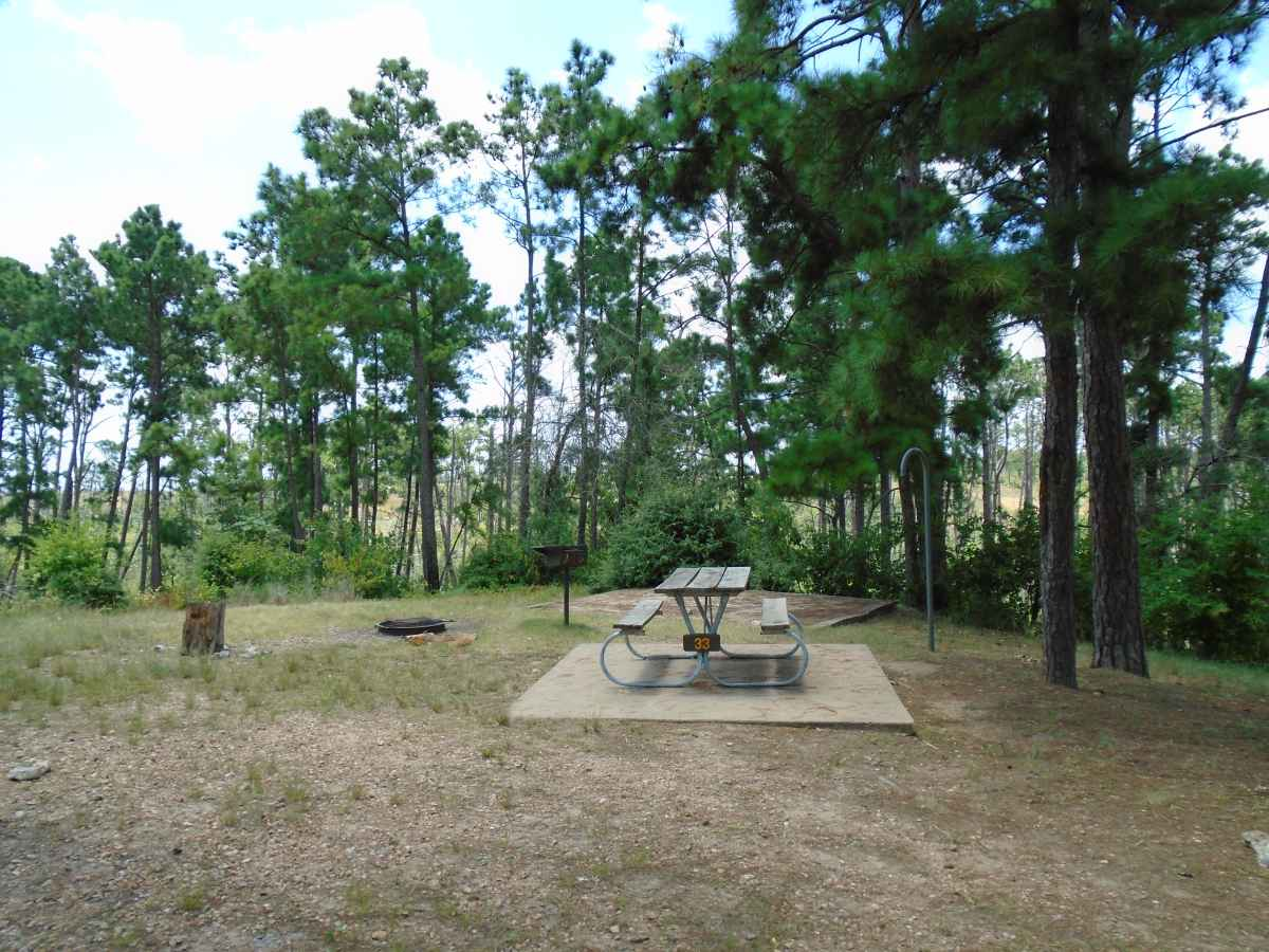 Campsite 33 in the Deer Run camping area.