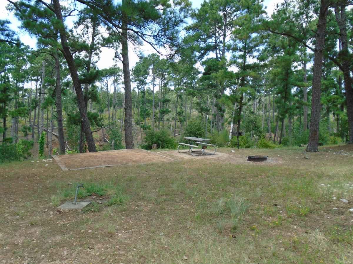 Campsite 34 in the Deer Run camping area.