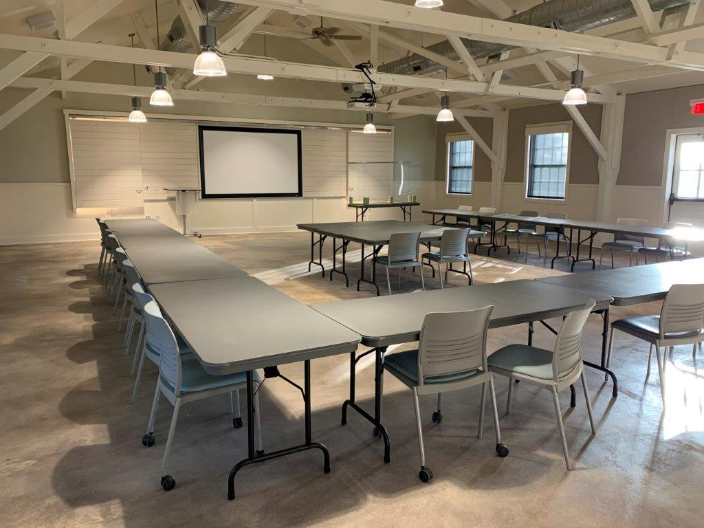Main room of Group Hall.