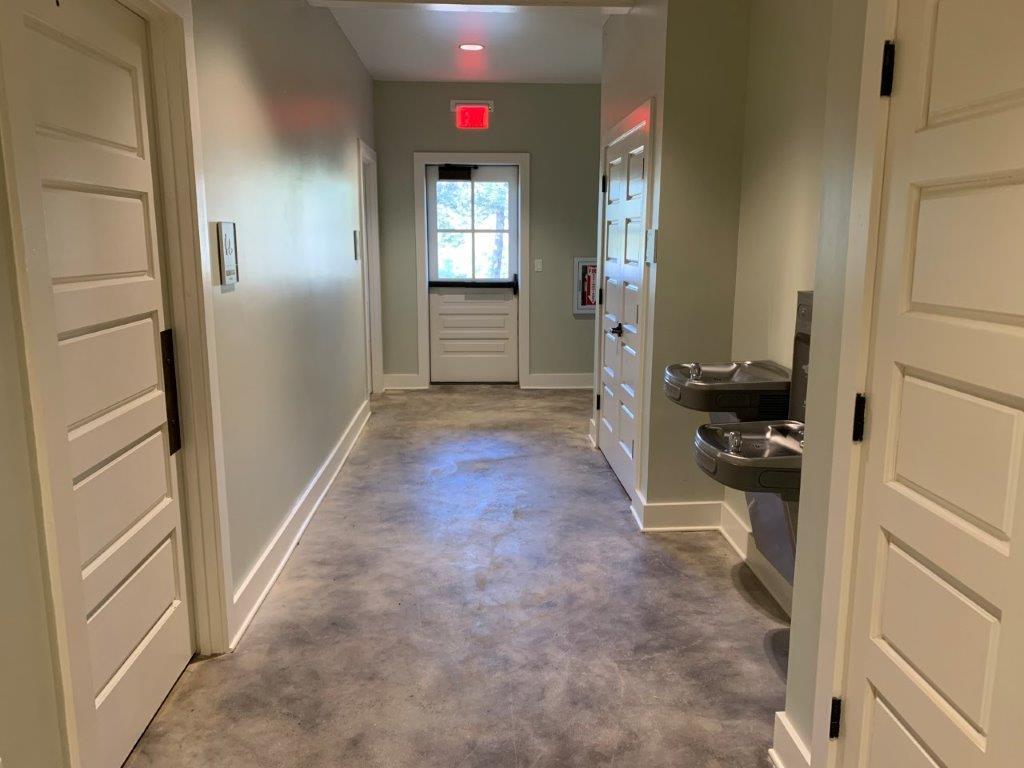 Hallway inside Group Hall.