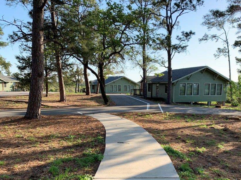Paved trails from group hall