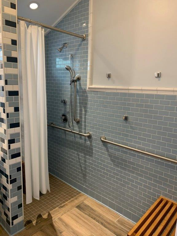Dorm bathroom shower