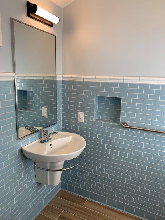 Dorm bathroom second sink