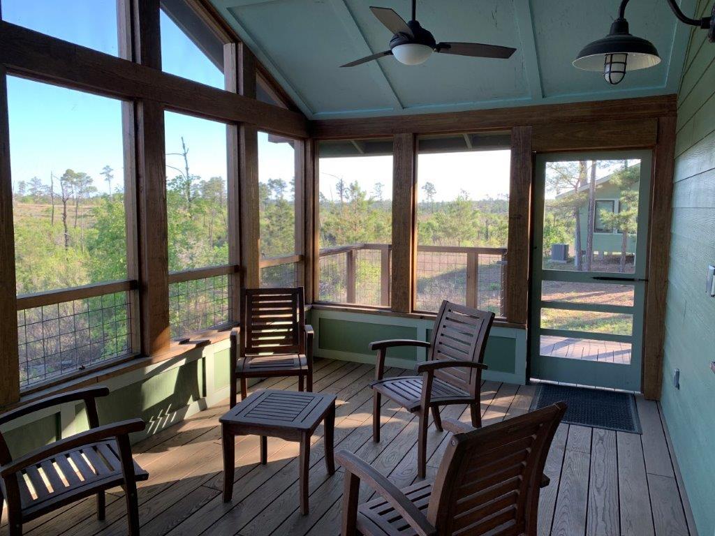 Dorm 3 screened porch.