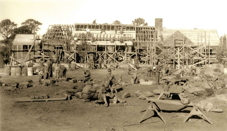 Historic photo of construction site