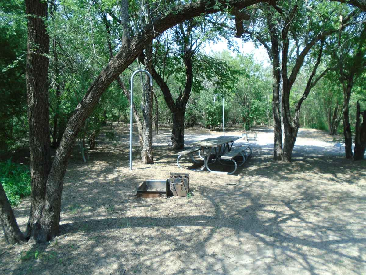 There are three fire rings that must be shared between the ten campsites.