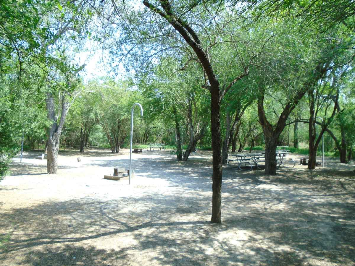 A wide view of the Walk-in Campsite Area.