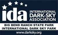 black & white dark sky park logo