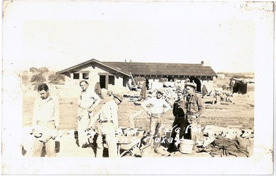 Sepia photo of CCC workers at Blanco