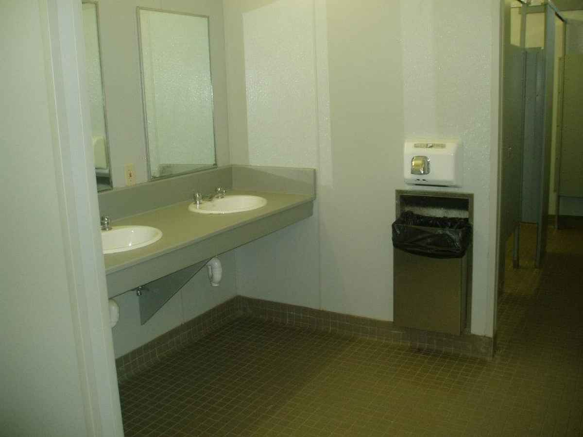 Restroom facilities in the Dining Hall.