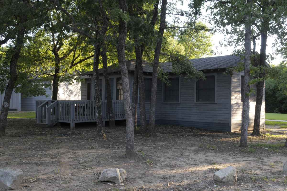 One of the group barracks.