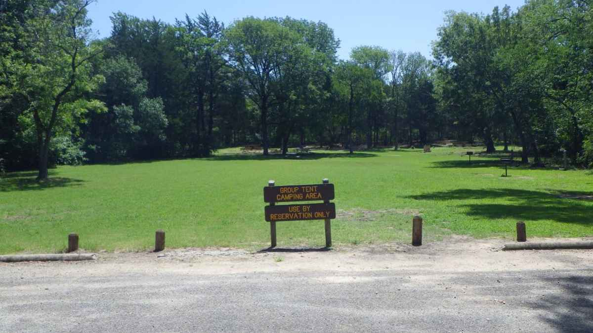 The entrance to the Group Camping Area.