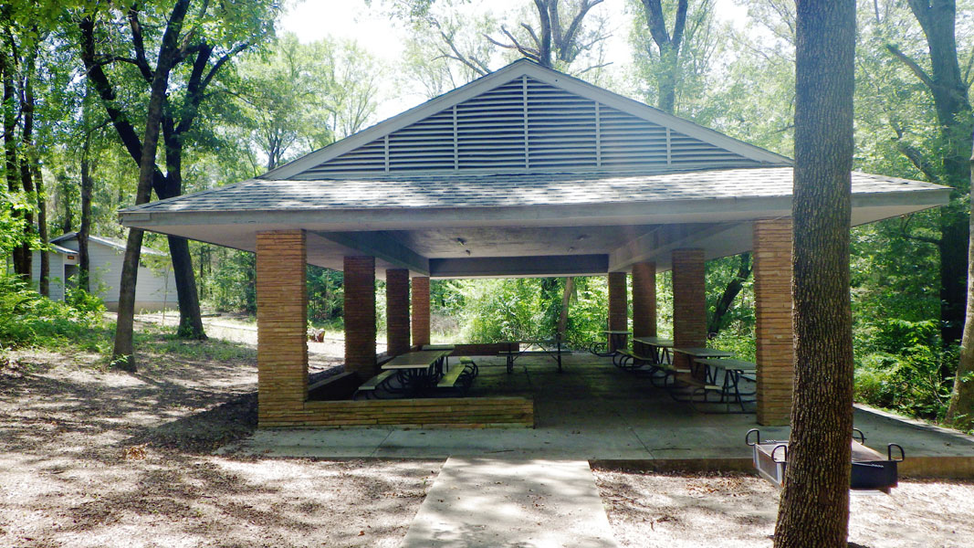 The front of the Pavilion.
