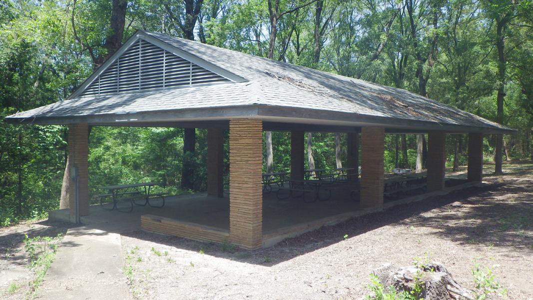 The back side of the Pavilion.