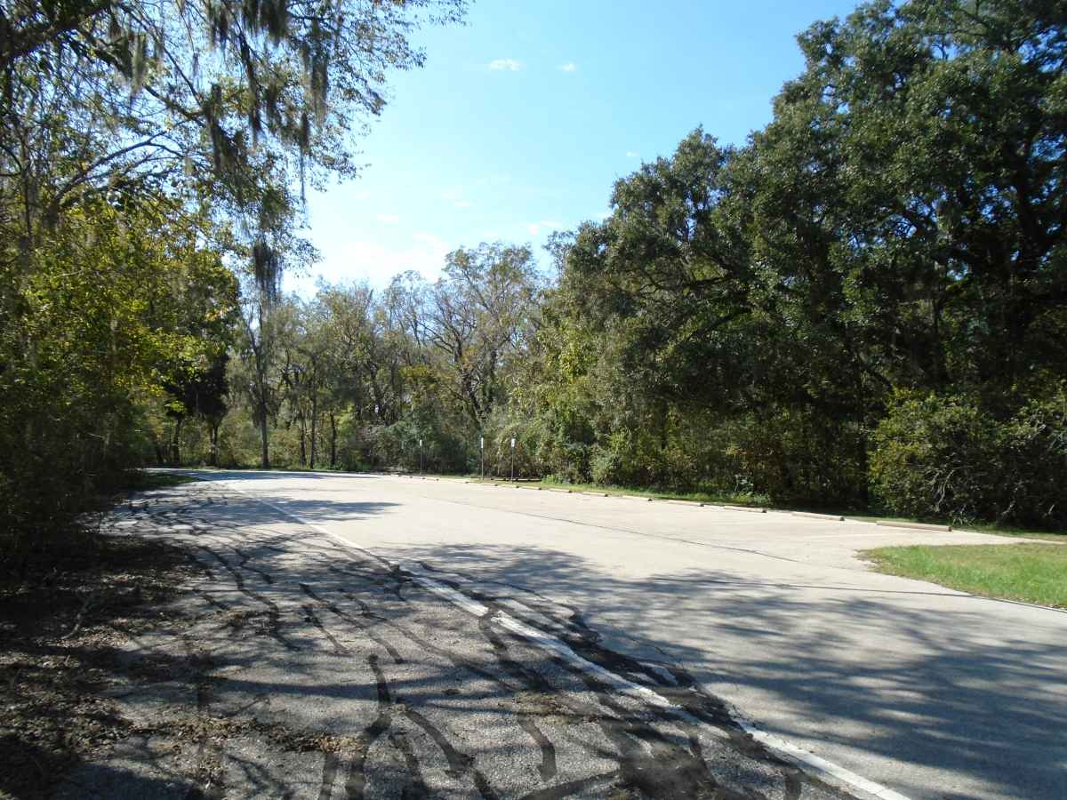 Parking area for the two 32-person capacity Youth Group Camping Areas.