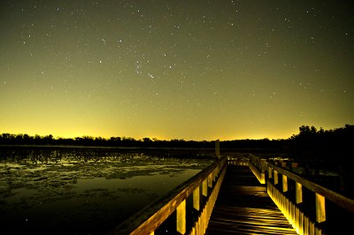 Night sky photo of lake & sky