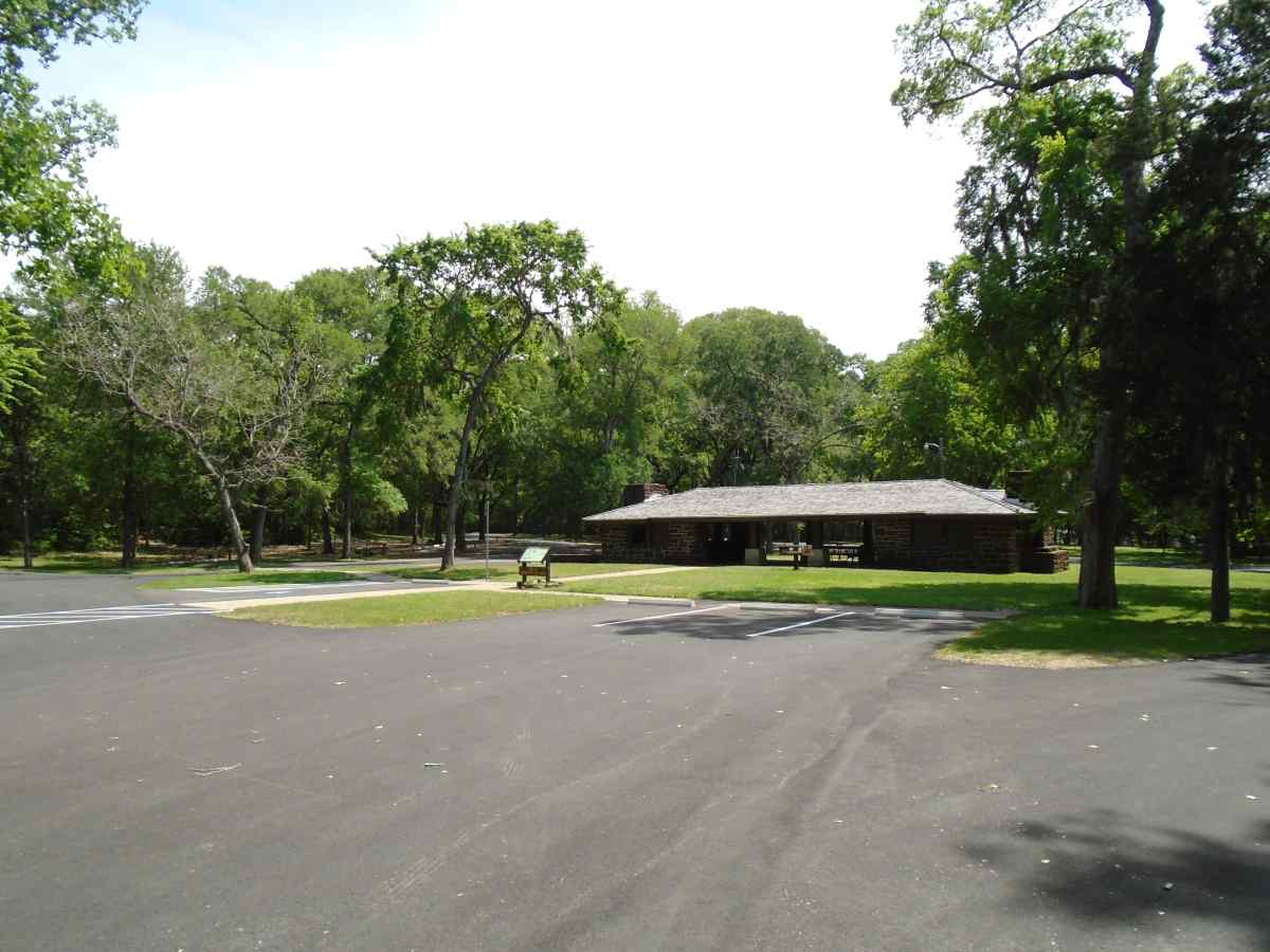 There is plenty of parking around the group pavilion.