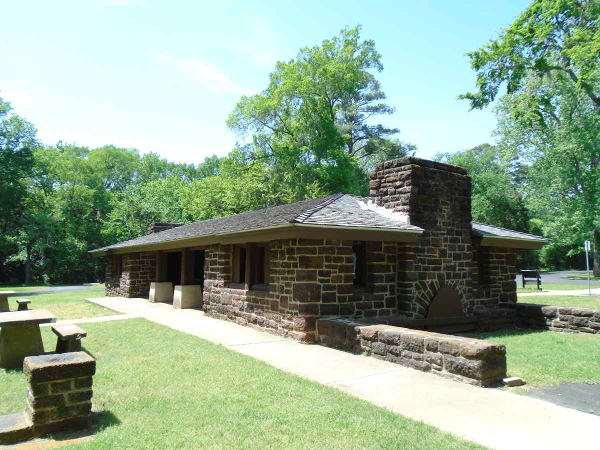 The Group Picnic Pavilion was built in the 1930's.