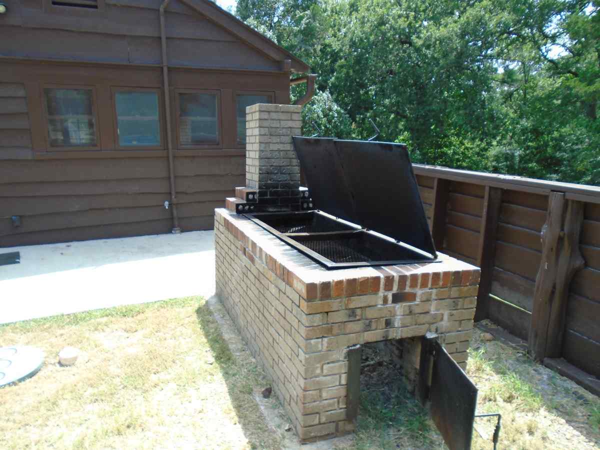 The outside grill/smoker.