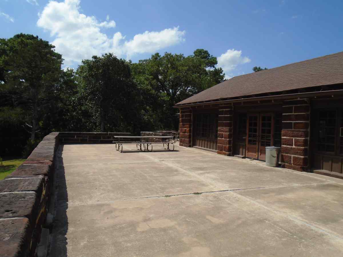 The back of the Group Recreation Hall.