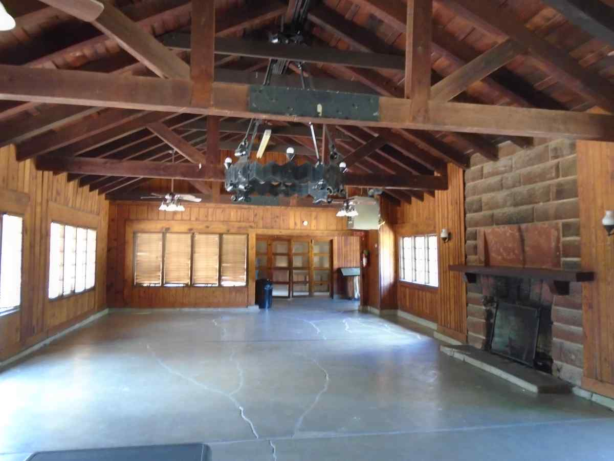 Inside the main room of the Group Recreation Hall.