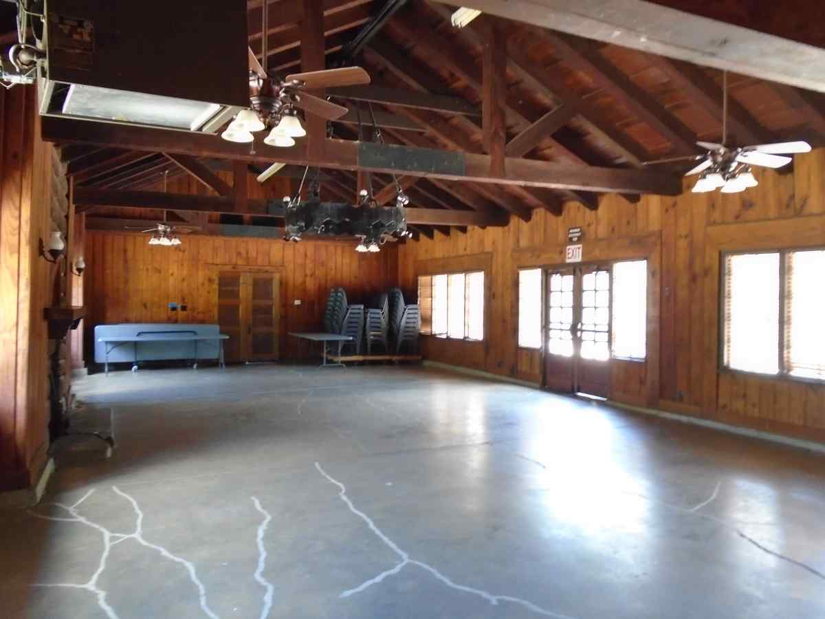 Inside the Group Recreation Hall.