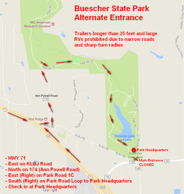 map of alternative park entry