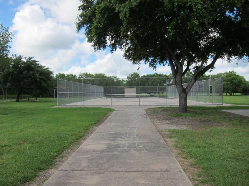 This outdoor tennis court is in the Sports Complex Area with the Gymnasium/stage and the Dining Hall.