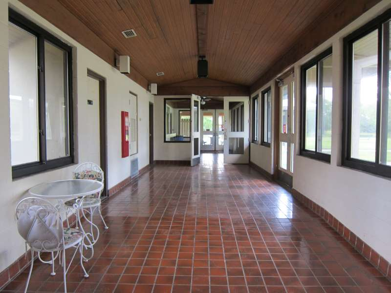 This hallway connects the Gymnasium and the Dining Hall.