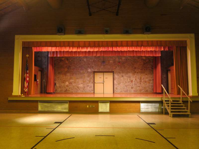 The Stage inside the Gymnasium.