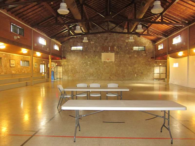 Inside the Gymnasium.