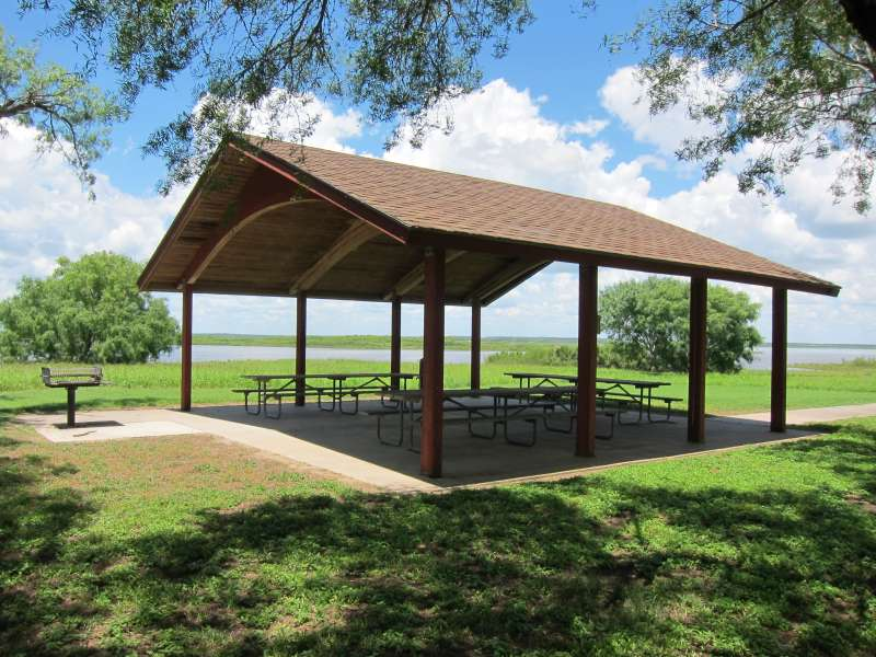 The Group Pavilion 3 is in the Campsites with Electricity Area, between campsites #133 and #131.
