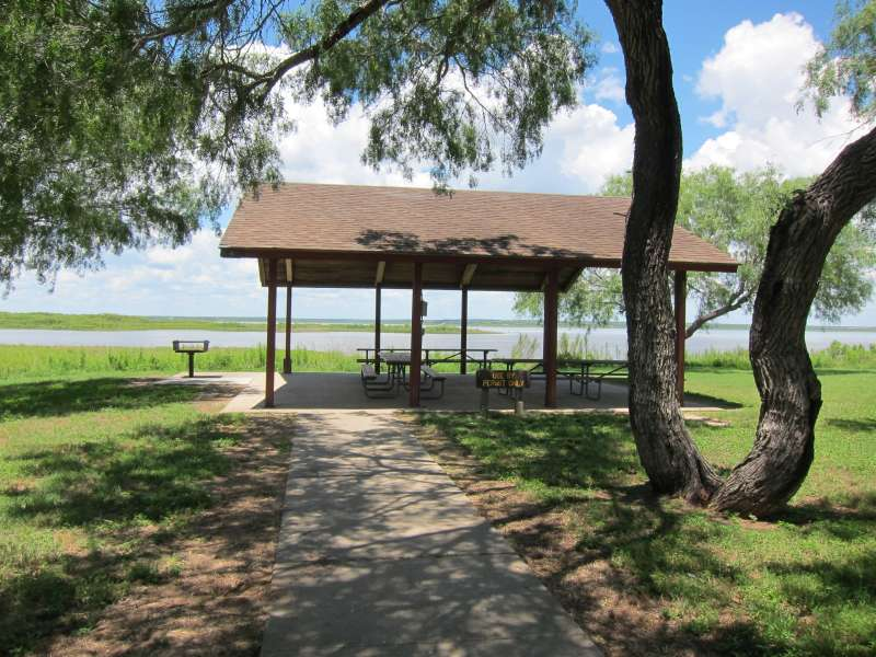 The Group Pavilion 4 is in the Campsites with Electricity Area, between campsites #114 and #115.