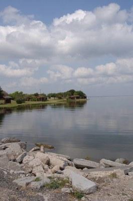 Shoreline of the reservoir