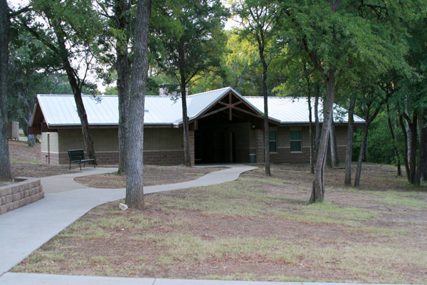 The men's barracks.