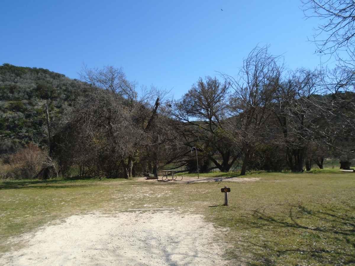 Colorado Bend State Park Primitive Campsites Drive Up
