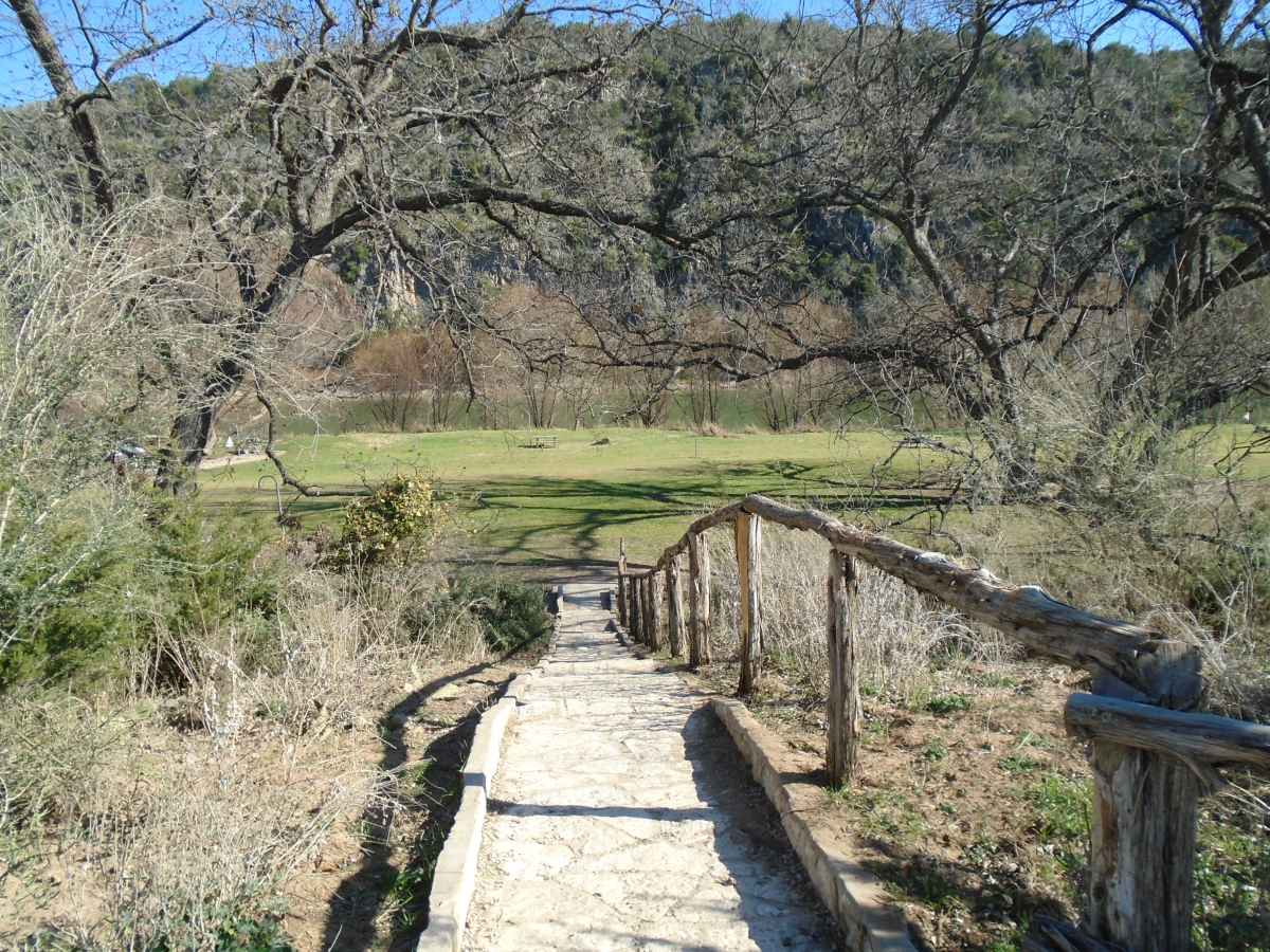 Stairway down to Walk-in Basic Campsites 1-16.